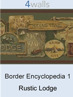 Border Encyclopedia 1 Rustic Lodge wallpaper