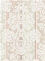 Damask Floral Stripes Wallpaper CA80506 by Seabrook Wallpaper for sale at Wallpapers To Go