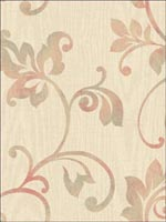 Leaf Scroll Woodgrain Wallpaper FS40401 by Seabrook Wallpaper for sale at Wallpapers To Go