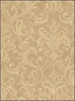 Damask Wallpaper BR31201 by Seabrook Platinum Series Wallpaper for sale at Wallpapers To Go