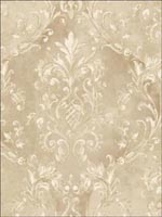 Leaf Scroll Damask Wallpaper DS20506 by Seabrook Wallpaper for sale at Wallpapers To Go
