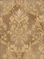 Leaf Scroll Damask Wallpaper DS20507 by Seabrook Wallpaper for sale at Wallpapers To Go