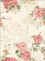 Floral Toile Wallpaper FI91303 by Seabrook Wallpaper for sale at Wallpapers To Go