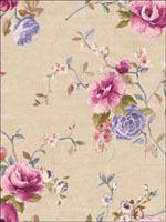 Floral Wallpaper FF51204 by Seabrook Wallpaper for sale at Wallpapers To Go