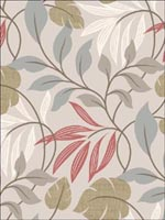 Eden Grey Modern Leaf Trail Wallpaper 253520626 by Beacon House Interiors Wallpaper for sale at Wallpapers To Go