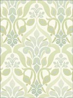 Fusion  Green Ombre Damask Wallpaper 253520643 by Beacon House Interiors Wallpaper for sale at Wallpapers To Go