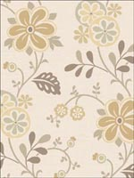 Amelie Beige Modern Floral Trail Wallpaper 253520679 by Beacon House Interiors Wallpaper for sale at Wallpapers To Go