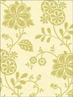 Amelie Green Modern Floral Trail Wallpaper 253520681 by Beacon House Interiors Wallpaper for sale at Wallpapers To Go