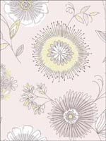 Maisie Purple Floral Burst Wallpaper 253520684 by Beacon House Interiors Wallpaper for sale at Wallpapers To Go