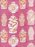 Canton Pink Orange Wallpaper 4788104 by Stroheim Wallpaper for sale at Wallpapers To Go