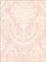 Sidney Damask Wallpaper DC50311 by Seabrook Wallpaper for sale at Wallpapers To Go