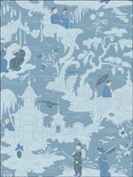 Chinese Toile Blue Wallpaper 1008038 by Cole and Son Wallpaper for sale at Wallpapers To Go