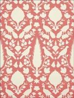 Chenonceau Coral Wallpaper 5004125 by Schumacher Wallpaper for sale at Wallpapers To Go