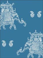 Ophelia Blue Elephant Wallpaper 1014001837 by A Street Prints Wallpaper for sale at Wallpapers To Go