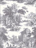 Villandry Charcoal Wallpaper 991003 by Cole and Son Wallpaper for sale at Wallpapers To Go