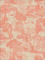 Versailles Coral Wallpaper 9915060 by Cole and Son Wallpaper for sale at Wallpapers To Go