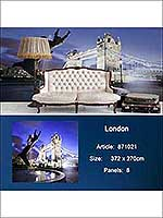 London 8 Panel Mural 871021 by Sancar Wallpaper for sale at Wallpapers To Go