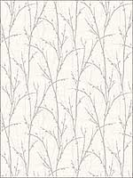 Twigs Metallics Wallpaper SH71508 by Seabrook Platinum Series Wallpaper for sale at Wallpapers To Go