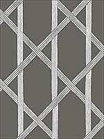 Mandara Charcoal Trellis Wallpaper 267122421 by Kenneth James Wallpaper for sale at Wallpapers To Go