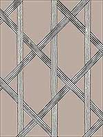 Mandara Taupe Trellis Wallpaper 267122424 by Kenneth James Wallpaper for sale at Wallpapers To Go