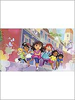 Dora and Friends XL 7 Panel Mural JL1342M by York Wallpaper for sale at Wallpapers To Go