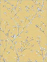 Tadley Yellow Branch Wallpaper 3112002751 by Chesapeake Wallpaper for sale at Wallpapers To Go