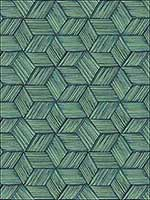 Intertwined Dark Green Geometric Wallpaper PS41404 by Kenneth James Wallpaper for sale at Wallpapers To Go