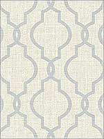 Geometric Jute Grey Quatrefoil Wallpaper PS41702 by Kenneth James Wallpaper for sale at Wallpapers To Go