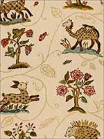 La Menagerie Cream Fabric 172760 by Schumacher Fabrics for sale at Wallpapers To Go