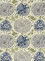Katsugi Indigo And Green Fabric 2620932 by Schumacher Fabrics for sale at Wallpapers To Go