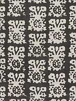 Jakarta Linen Print Graphite Fabric 174630 by Schumacher Fabrics for sale at Wallpapers To Go