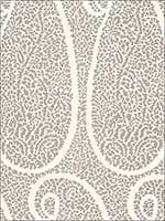 Ambala Paisley Oyster Fabric 174643 by Schumacher Fabrics for sale at Wallpapers To Go