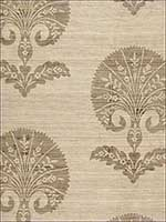 Ottoman Flower Putty Fabric 174650 by Schumacher Fabrics for sale at Wallpapers To Go
