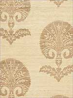 Ottoman Flower Candlelight Fabric 174651 by Schumacher Fabrics for sale at Wallpapers To Go