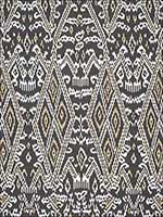 Maya Ikat Print Ash Fabric 174750 by Schumacher Fabrics for sale at Wallpapers To Go