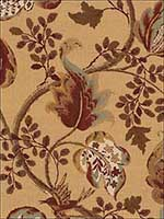 Fox Hollow Honey And Smoke Fabric 2639647 by Schumacher Fabrics for sale at Wallpapers To Go