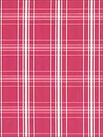 Belize Plaid Azalea Fabric 68092 by Schumacher Fabrics for sale at Wallpapers To Go