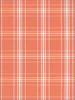 Belize Plaid Orange Fabric 68093 by Schumacher Fabrics for sale at Wallpapers To Go