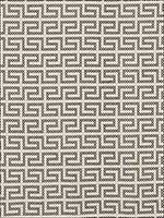 A Maze Embroidery Black On Ivory Fabric 70230 by Schumacher Fabrics for sale at Wallpapers To Go
