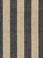 Augustin Linen Stripe Ebony Linen Fabric 66075 by Schumacher Fabrics for sale at Wallpapers To Go