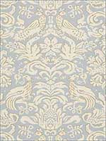 Aldwyn Damask Robins Egg Fabric 1328000 by Schumacher Fabrics for sale at Wallpapers To Go