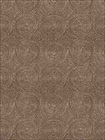 Crop Art Circles Cocoa Fabric 5006007 by Vervain Fabrics for sale at Wallpapers To Go