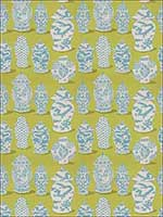 Canton Lime Turquoise Fabric 4694602 by Stroheim Fabrics for sale at Wallpapers To Go