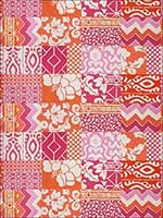 Parish Patch Pink Orange Fabric 4702005 by Stroheim Fabrics for sale at Wallpapers To Go