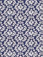 Nouveau Palazzo Navy Fabric 4702304 by Stroheim Fabrics for sale at Wallpapers To Go