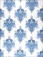 1083A Patmanjari S0510 Blue and White Fabric 6021801 by Stroheim Fabrics for sale at Wallpapers To Go
