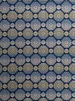 Spirograph Cobalt Fabric 3895103 by Fabricut Fabrics for sale at Wallpapers To Go