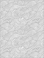 Mare Grey Wave Wallpaper 274424131 by A Street Prints Wallpaper for sale at Wallpapers To Go