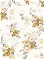 Heirloom Rose Wallpaper MH1527 by York Wallpaper for sale at Wallpapers To Go