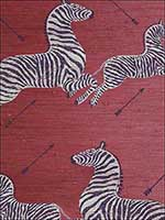Zebras Zebras On Red Wallpaper G81388M002 by Scalamandre Wallpaper for sale at Wallpapers To Go